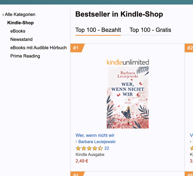 bestseller kindle shop